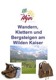 Klettern und Bergsteigen - Hotel Alpin