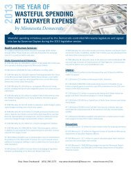 The Year of Wasteful Spending at Taxpayer Expense by Minnesota ...