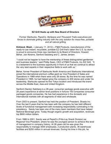 EZ Grill Stellar Board - International Housewares Association