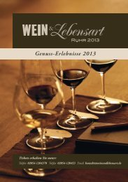 Genuss-Erlebnisse 2013 - Hotel Reuter