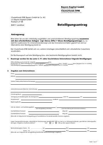 Selbstauskunft - Bayern Kapital