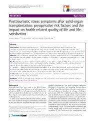 Posttraumatic stress symptoms after solid-organ transplantation ...