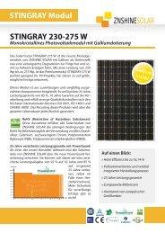 Datenblatt ZNSHINE Solarmodul ZX230-275Wp ... - bei HR Controls