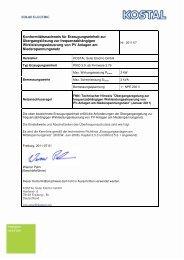 Konformitätsnachweis für Erzeugungseinheit zur ... - Soleg