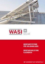 Montageanleitung flachdach - WASI Solar