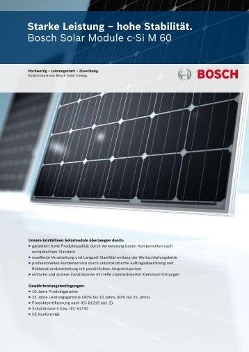 Datenblatt BOSCH c-SI M60 - bmd GmbH