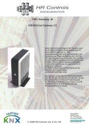 HRC Homeboy ® EIB BACnet Gateway V2 - bei HR Controls