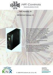 HRC Homeboy ® EIB BACnet Gateway V3 - bei HR Controls