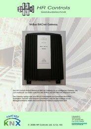 M-Bus BACnet Gateway - bei HR Controls