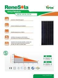 Datenblatt Renesola Virtus 300-310 Wp - bei HR Controls