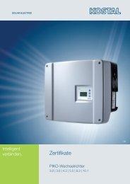 Zertifikate Kostal - Abakus solar AG