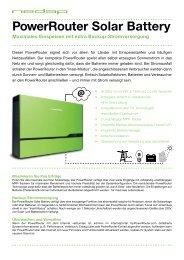 PowerRouter Solar Battery - bei HR Controls