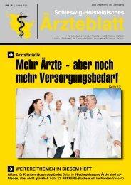 PDF-Gesamtausgabe 2013 / 03 - Schleswig-Holsteinisches Ärzteblatt
