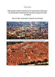 die siebenbürgischen Städte Sibiu/Hermannstadt und Braşov ...