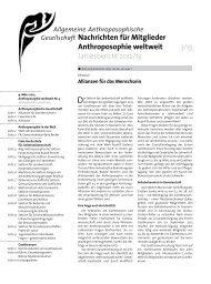 Gesellschaft Nachrichten für Mitglieder ... - Goetheanum