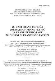 Programska Knjia Ica Hrvatsko Filozofsko Drua Tvo