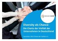 Charta der Vielfalt Präs. 2012-12 - HRK nexus