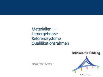Lernergebnisse Referenzsysteme Qualifikationsrahmen - HRK nexus