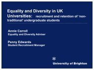 Equality and Diversity in UK - HRK nexus