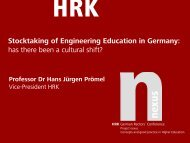 Stocktaking of Engineering Education in Germany: has ... - HRK nexus