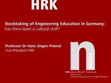 Stocktaking of Engineering Education in Germany: has ... - HRK nexus