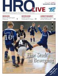 Eine Stadt in Bewegung - HRO·LIFE - Das Magazin für die ...