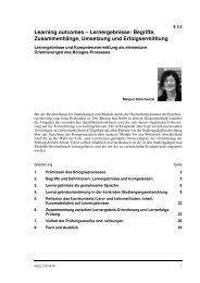 Learning outcomes - Nationalagentur Lebenslanges Lernen