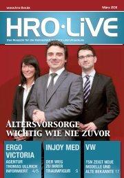 Altersvorsorge wichtig wie nie zuvor - HRO live