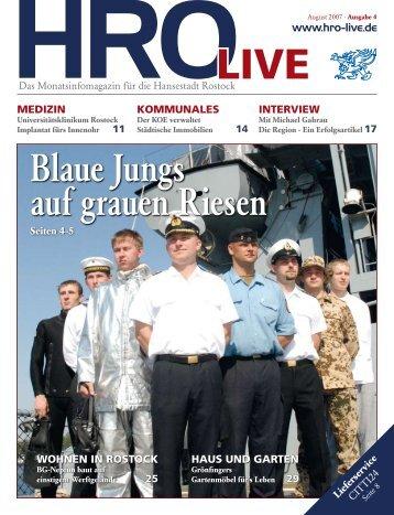Blaue Jungs auf grauen Riesen - HRO live