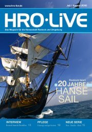 Hanse sail - HRO·LIFE - Das Magazin für die Hansestadt Rostock