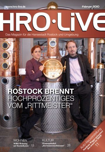 rittMEistEr - HRO·LIFE - Das Magazin für die Hansestadt Rostock