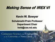Making Sense of IREX VI