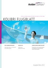 Kolibri Flugblatt 2013 - Kolibri software & systems GmbH