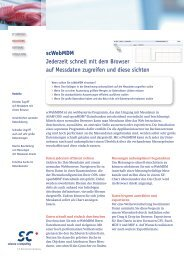 scWebMDM Infoblatt - Science und Computing AG