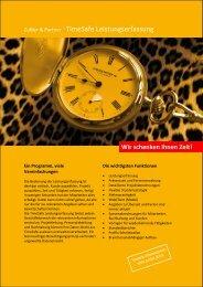Zubler & Partner TimeSafe Leistungserfassung - Zubler & Partner AG