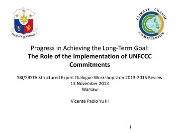 Philippines - United Nations Framework Convention on Climate ...