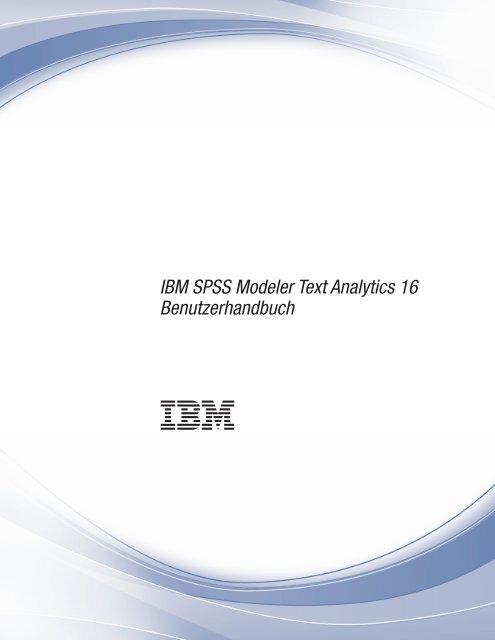 IBM SPSS Modeler Text Analytics 16 Benutzerhandbuch