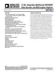 ADV7403 (Rev. B) - Analog Devices
