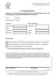 Programm FSC Deutschland