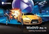 Corel WinDVD 11 Getting Started Guide - Corel Corporation