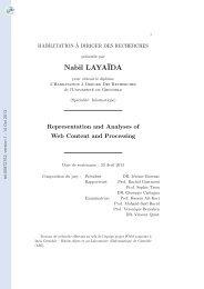 Représentation et analyses de contenu et de programmes Web