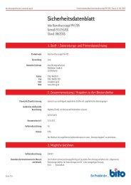 Sicherheitsdatenblatt PH 785 - Bito AG
