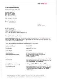 Informationsschreiben, Tarifblatt und Vollmacht - KSV