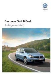 Der neue Golf Bifuel Autogasantrieb - Autohaus Perski ohg