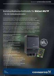 Kommunikationsschnittstelle für BACnet MS/TP - Grundfos