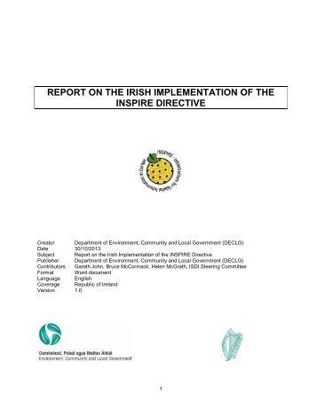 Ireland's report - Inspire