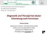 Diagnostik und Therapie bei akuter Erkrankung nach Fernreisen