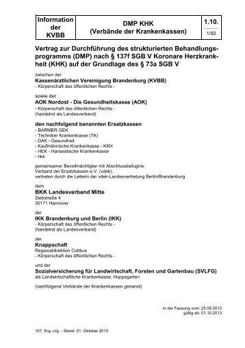 DMP KHK - Kassenärztlichen Vereinigung Brandenburg