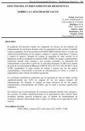 EFECTOS DEL ENTRENAMIENTO DE RESISTENCIA SOBRE LA ...