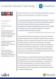 Case Studie: SharePoint-basiertes ICD-10 Diagnose ... - Layer2